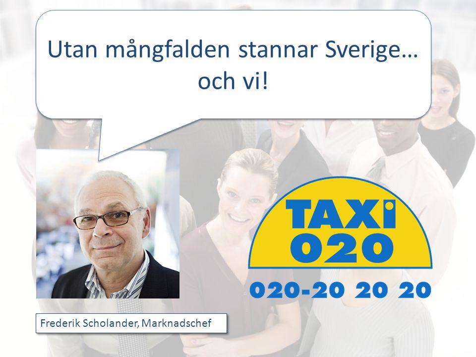 Utan mångfalden stannar Sverige… och vi! Frederik Scholander, Marknadschef