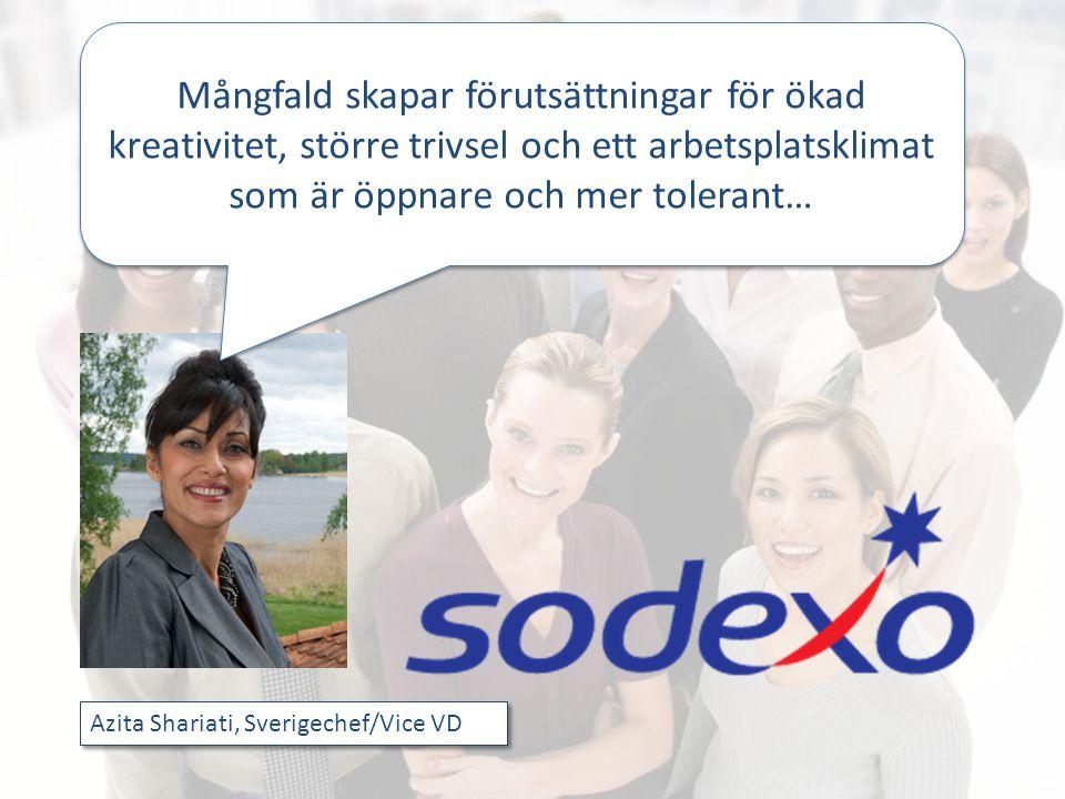Azita Shariati, Sverigechef/Vice VD Mångfald skapar förutsättningar för ökad kreativitet, större trivsel och ett arbetsplatsklimat som är öppnare och