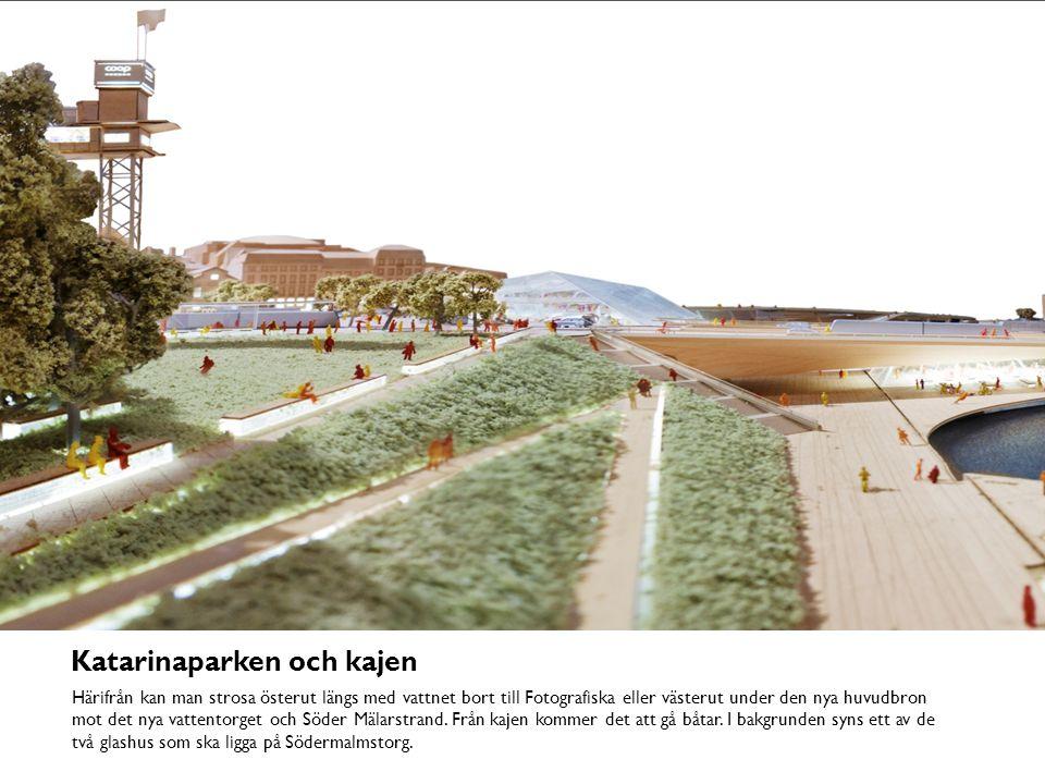 Huvudbron från vattnet Under den nya huvudbron kommer det att finnas restauranger och caféer, förutom kontor för slusspersonalen.