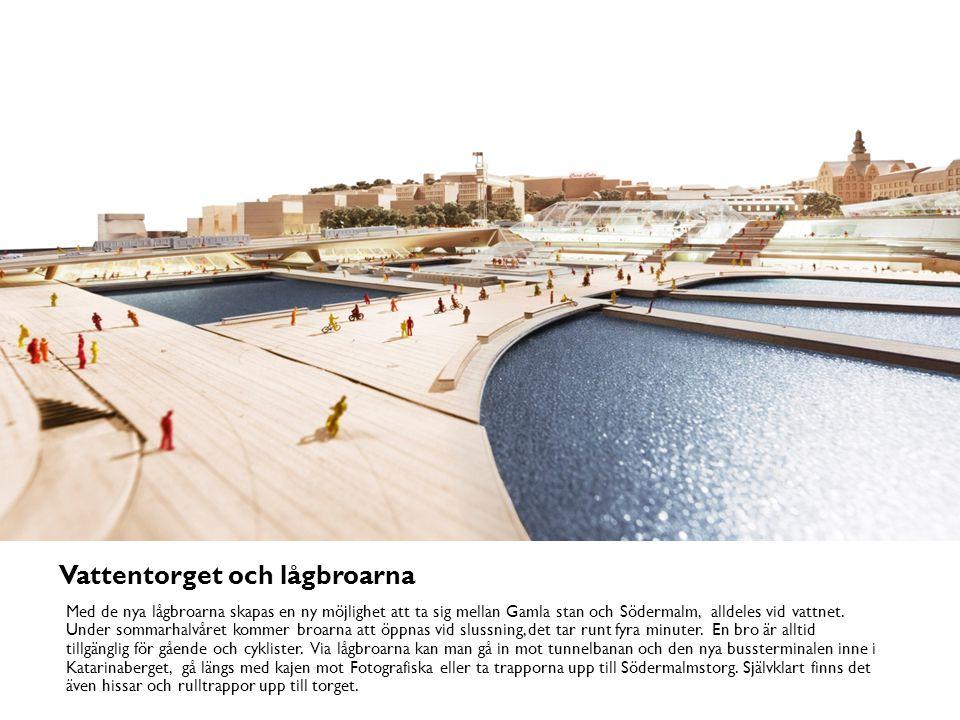 Gång- och cykelbron mot Södermalmstorg En helt ny bro för enbart gående och cyklister byggs parallellt med t-banebron.