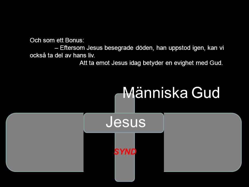 Gud Och som ett Bonus: – Eftersom Jesus besegrade döden, han uppstod igen, kan vi också ta del av hans liv. Att ta emot Jesus idag betyder en evighet