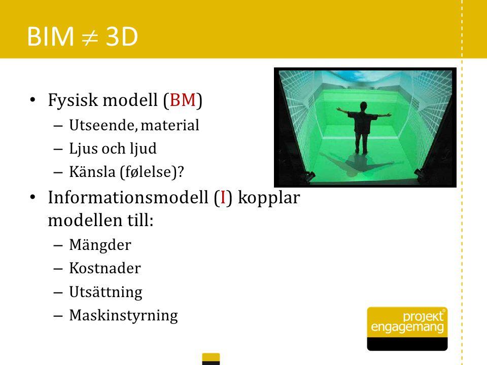 • 3D-redovisning (för visualisering och produktion) • Kostnadsanalyser (LCA: pengar, energi, material, …) • Tidsplanering (för produktion) BIM = 5D 15
