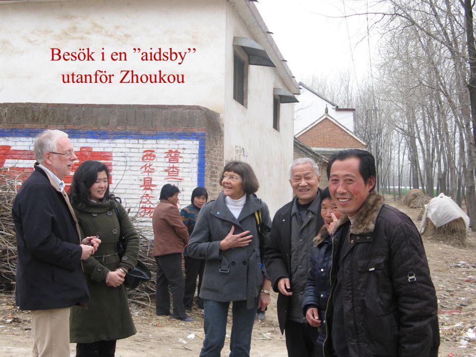 """Besök i en """"aidsby'' utanför Zhoukou"""