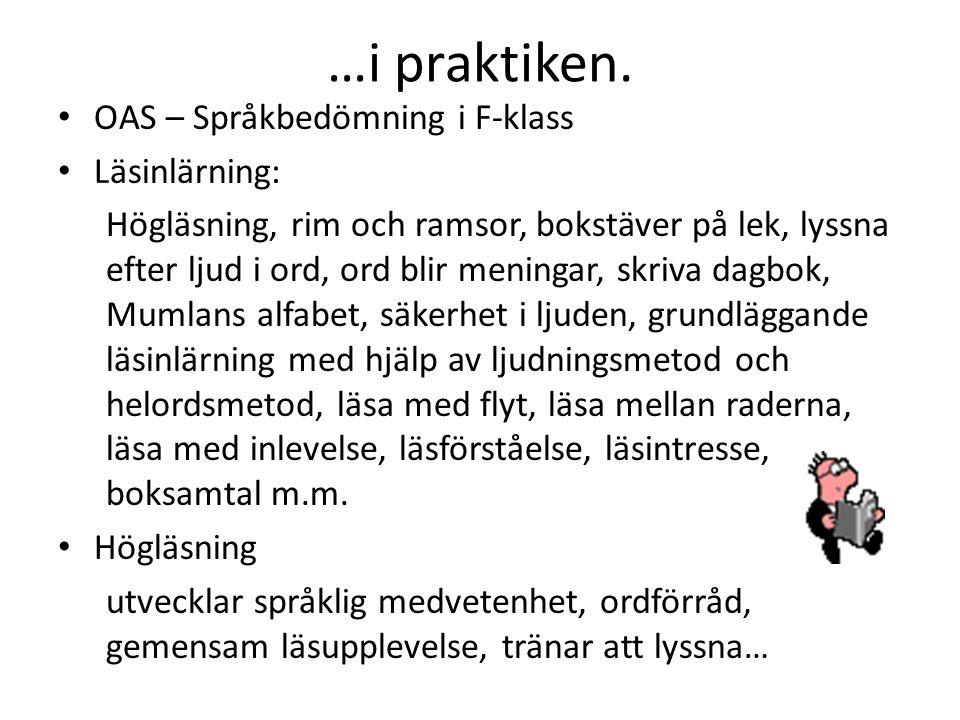 """Svenska… ur: LGR11 """"Genom undervisningen i ämnet svenska ska eleverna sammanfattningsvis ges förutsättningar att utveckla sin förmåga att: • formulera"""