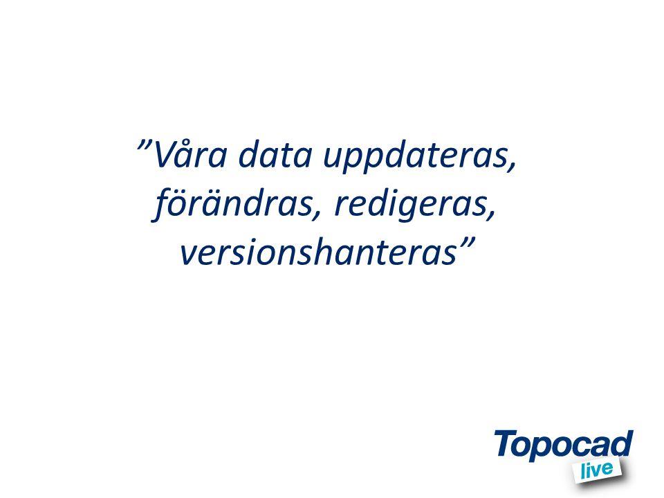 """""""Våra data uppdateras, förändras, redigeras, versionshanteras"""""""