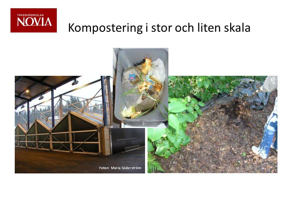 Kompostering i stor och liten skala Foton: Maria Söderström