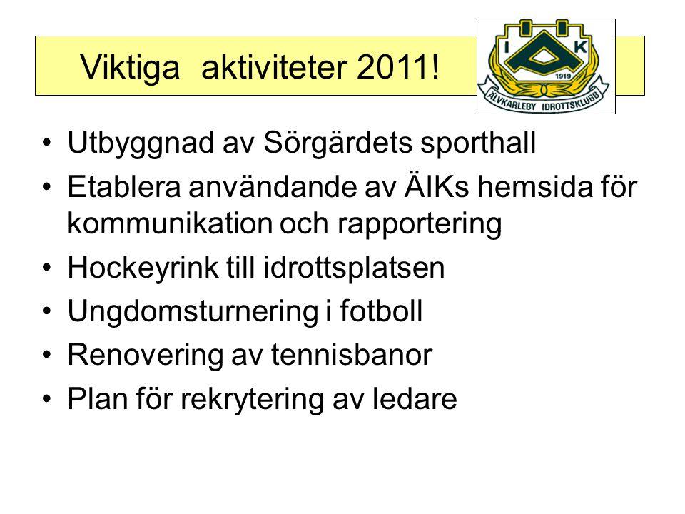 Viktiga aktiviteter 2011.
