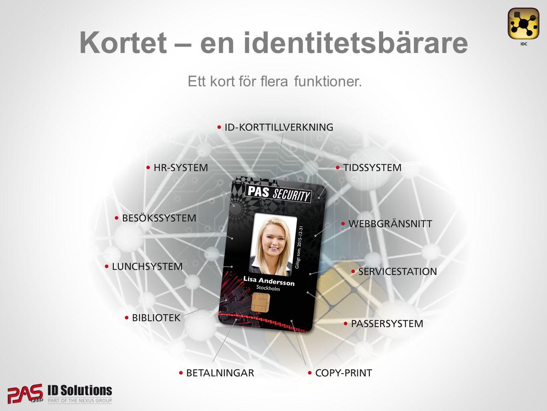 Kortet – en identitetsbärare Ett kort för flera funktioner.