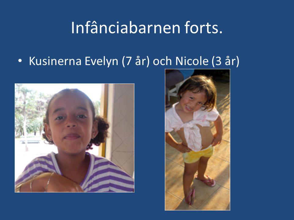 Infânciabarnen forts. • Kusinerna Evelyn (7 år) och Nicole (3 år)