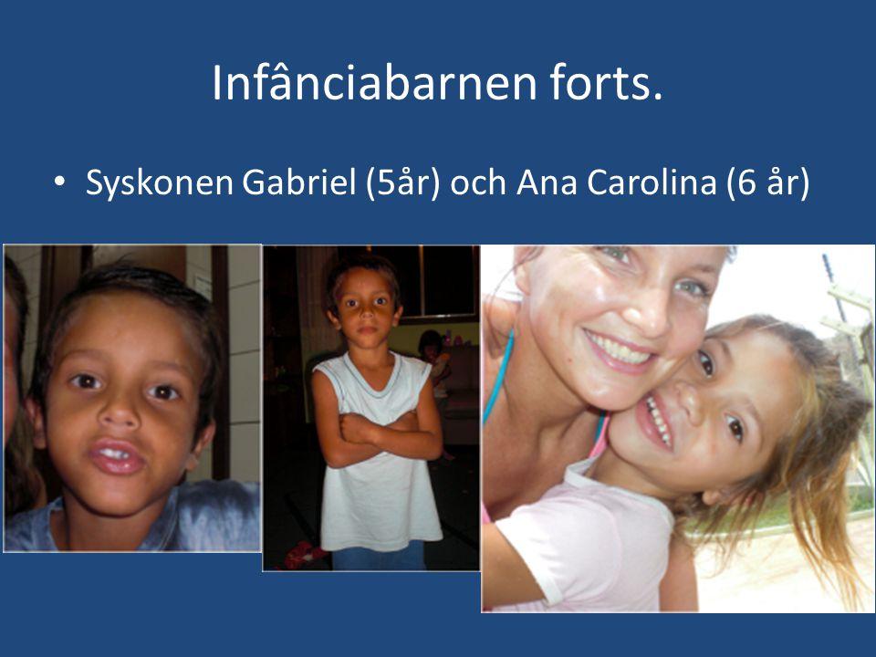 Infânciabarnen forts. • Syskonen Gabriel (5år) och Ana Carolina (6 år)