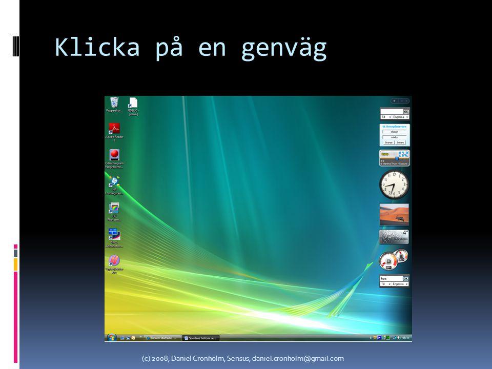Klicka på en Gadget (c) 2008, Daniel Cronholm, Sensus, daniel.cronholm@gmail.com