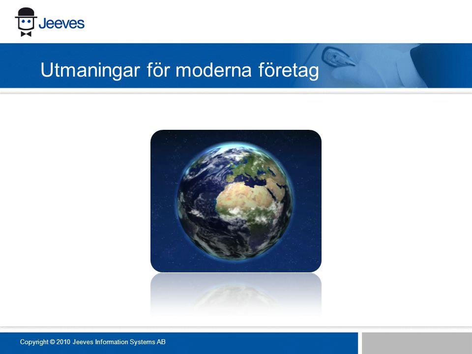 Utmaningar för moderna företag Copyright © 2010 Jeeves Information Systems AB