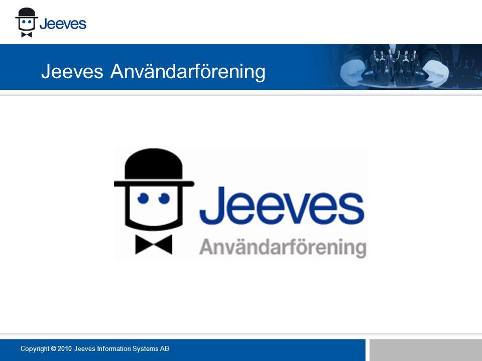 Jeeves Användarförening Copyright © 2010 Jeeves Information Systems AB