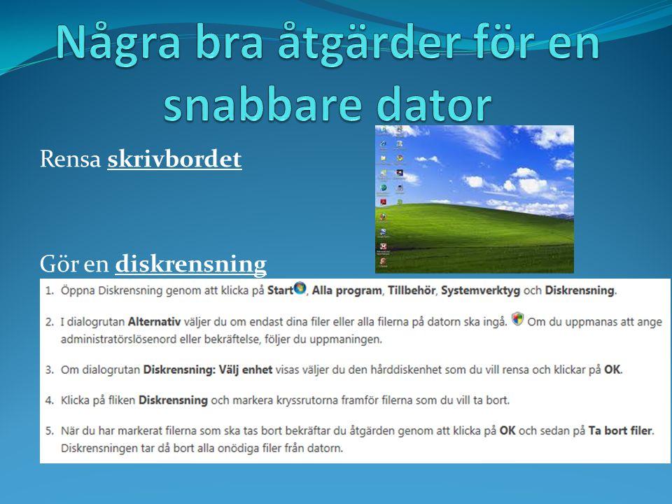 USB / Flashminne Olika disketter Extern hårddisk På Nätet Ex Dropbox Klicka här för startsidanKlicka här för nästa avsnitt