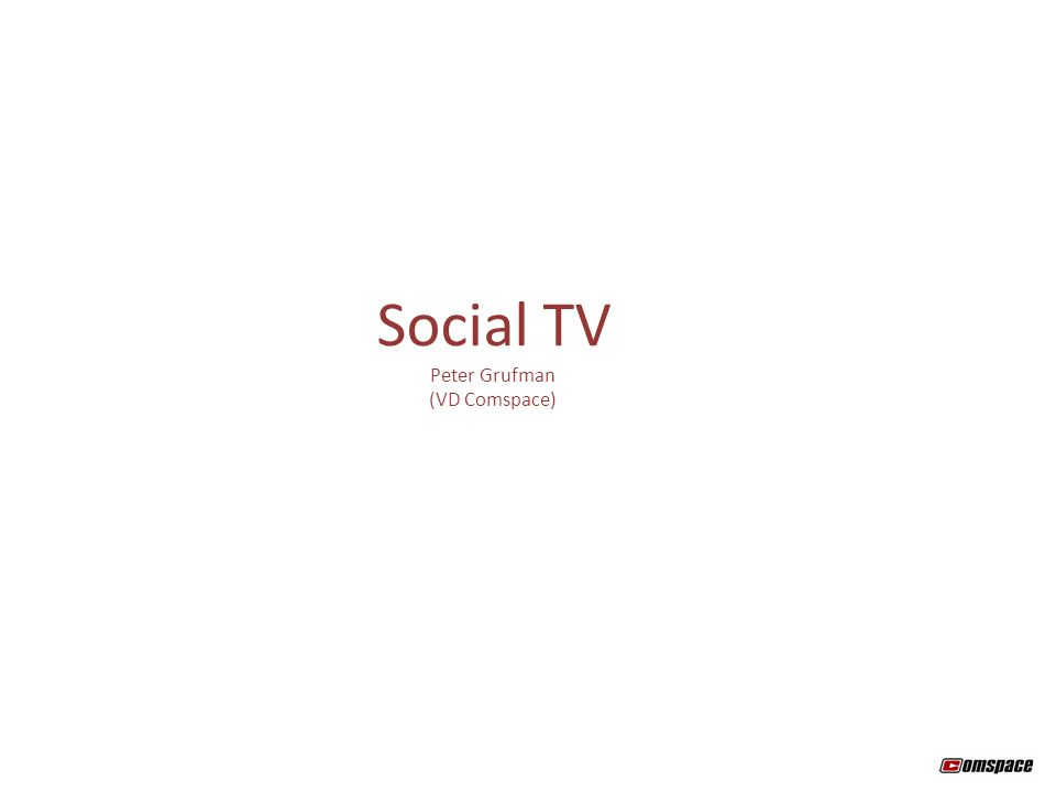 Social TV Peter Grufman (VD Comspace)