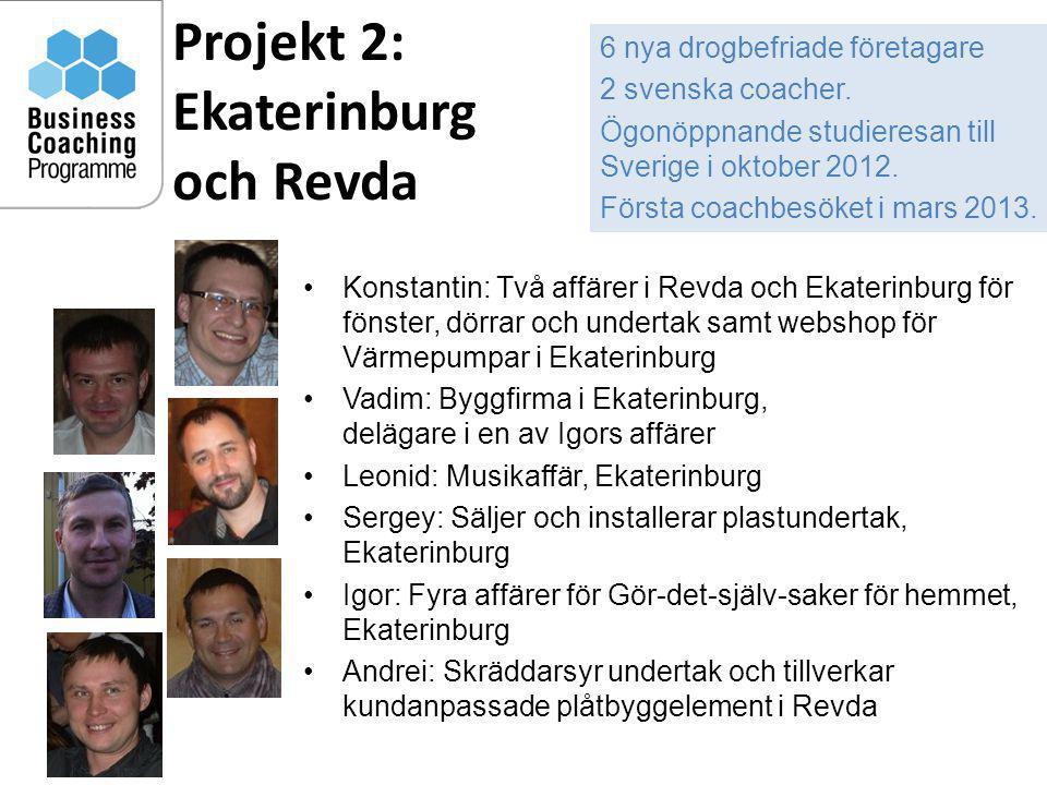 Projekt 2: Ekaterinburg och Revda 10 •Konstantin: Två affärer i Revda och Ekaterinburg för fönster, dörrar och undertak samt webshop för Värmepumpar i