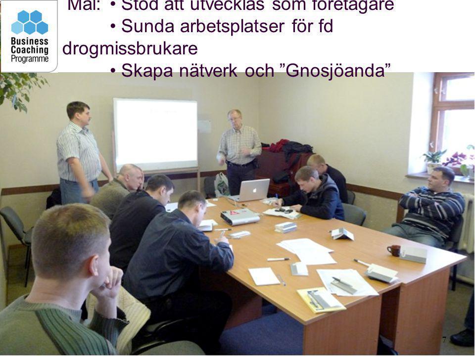 8 Medel: • Ögonöppnande studiebesök i Sverige •Seminarier om utvecklingsfrågor och etik.
