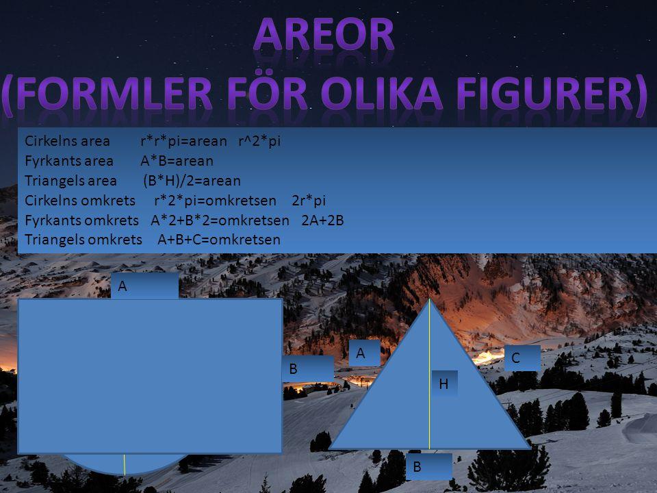 7cm 11cm 5cm Hur stor area har figuren.Vi måste ta reda på alla tre figurers areor.