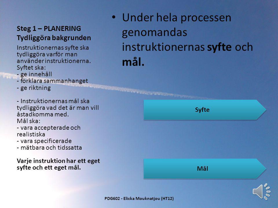 Vad är instruktioner? • Förklaringar som ska ge riktning till ett specifikt resultat • Förklaringarna är sammansatta för att progressivt kunna uppnå e