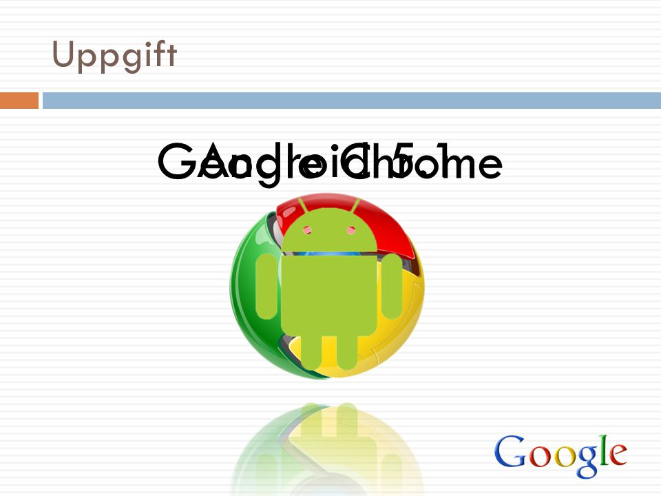 Uppgift Android 5.1 Google Chrome