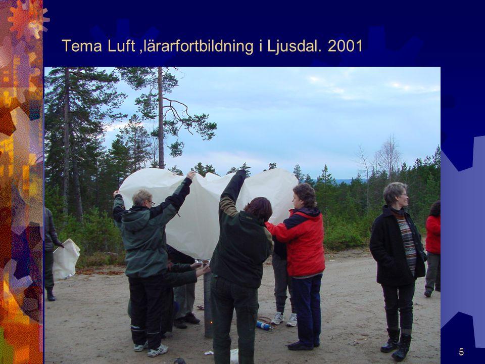 5 Tema Luft,lärarfortbildning i Ljusdal. 2001