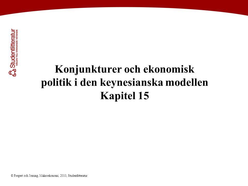 © Fregert och Jonung, Makroekonomi, 2010, Studentlitteratur Konjunkturer och ekonomisk politik i den keynesianska modellen Kapitel 15