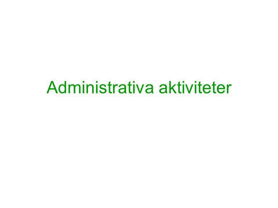 Administrativa aktiviteter