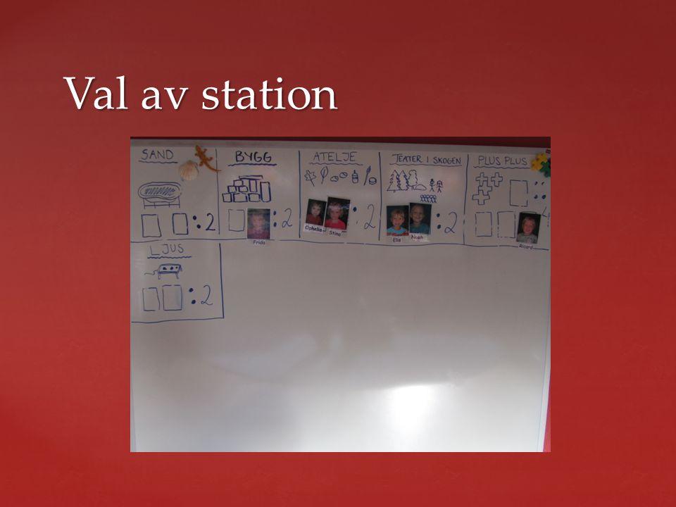 Val av station