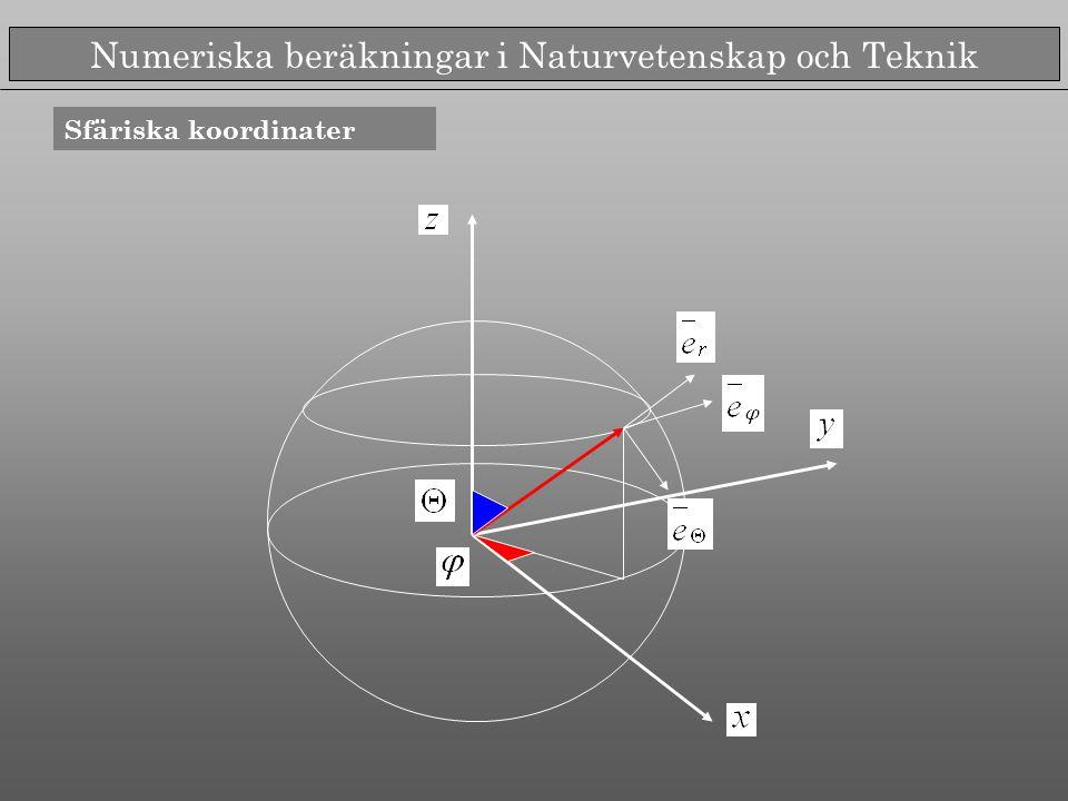 Numeriska beräkningar i Naturvetenskap och Teknik Olika typer av banor Undersöks på egen hand i projektet!