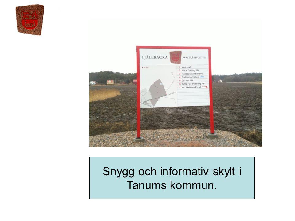Snygg och informativ skylt i Tanums kommun.
