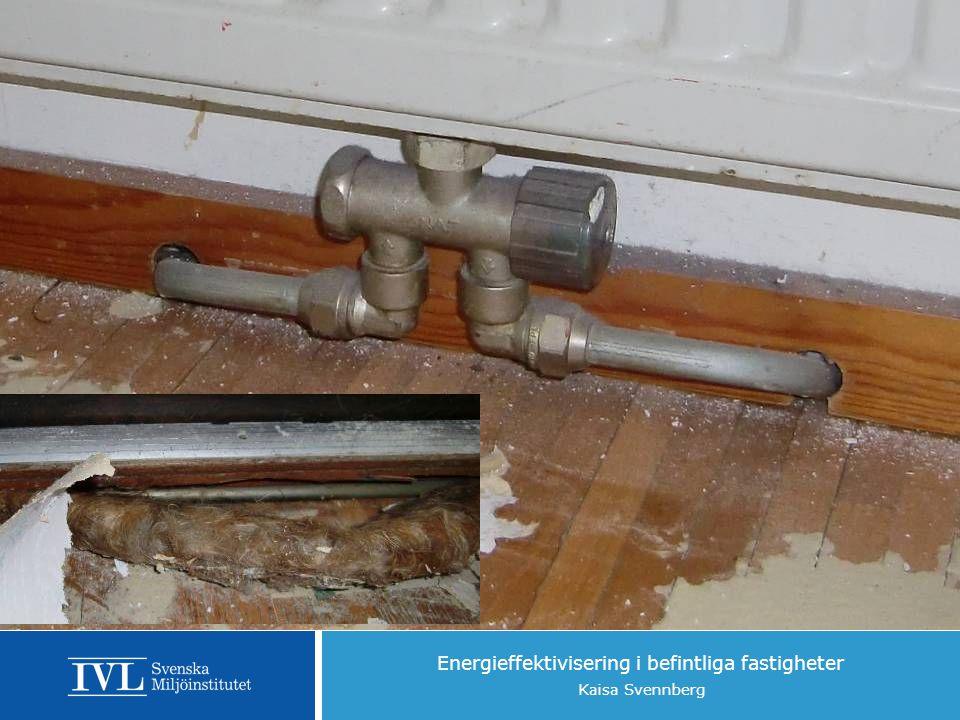 Energieffektivisering i befintliga fastigheter Kaisa Svennberg