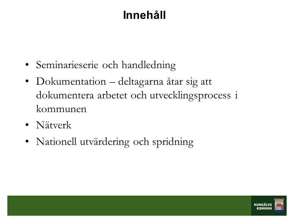 Mallen blev ett analysverktyg •Seminarium 3 kring pedagogisk dokumentation i förskolan.