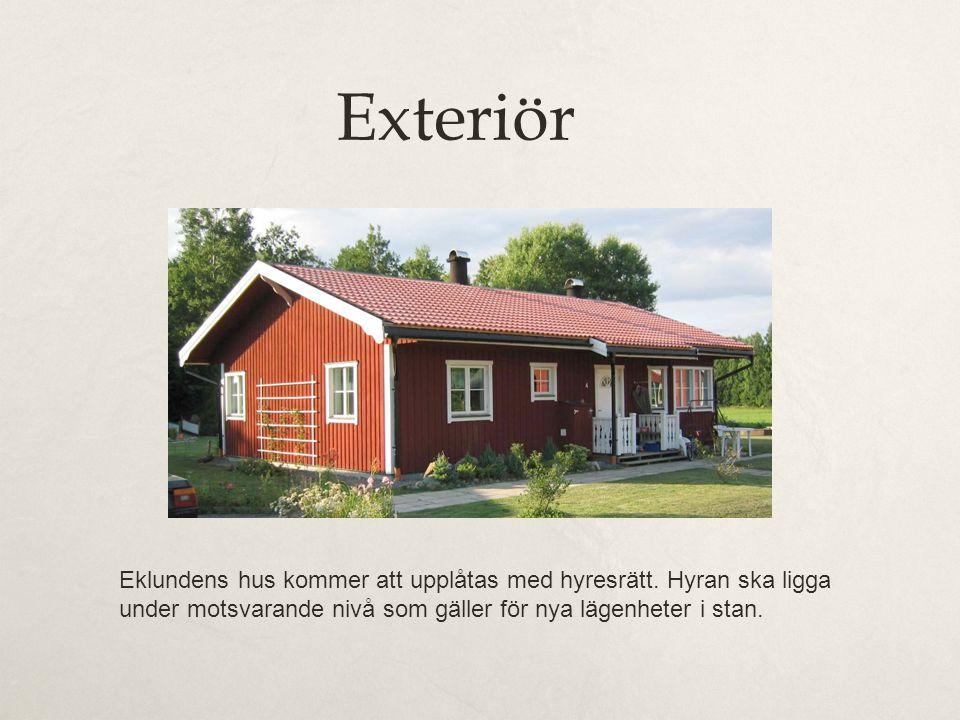 Exteriör Eklundens hus kommer att upplåtas med hyresrätt.