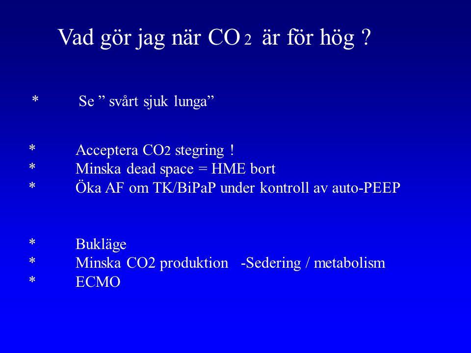 Vad gör jag när CO 2 är för hög .*Acceptera CO 2 stegring .