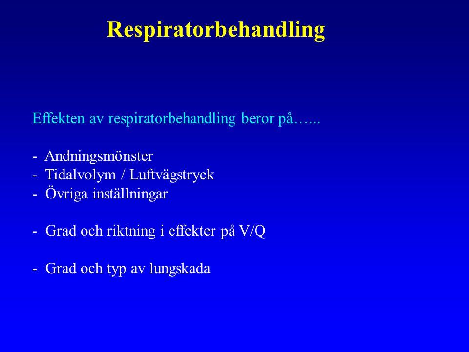 Respiratorbehandling Effekten av respiratorbehandling beror på…...