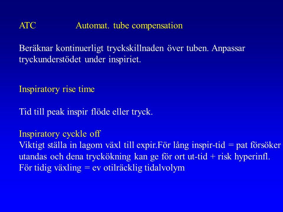 ATCAutomat.tube compensation Beräknar kontinuerligt tryckskillnaden över tuben.
