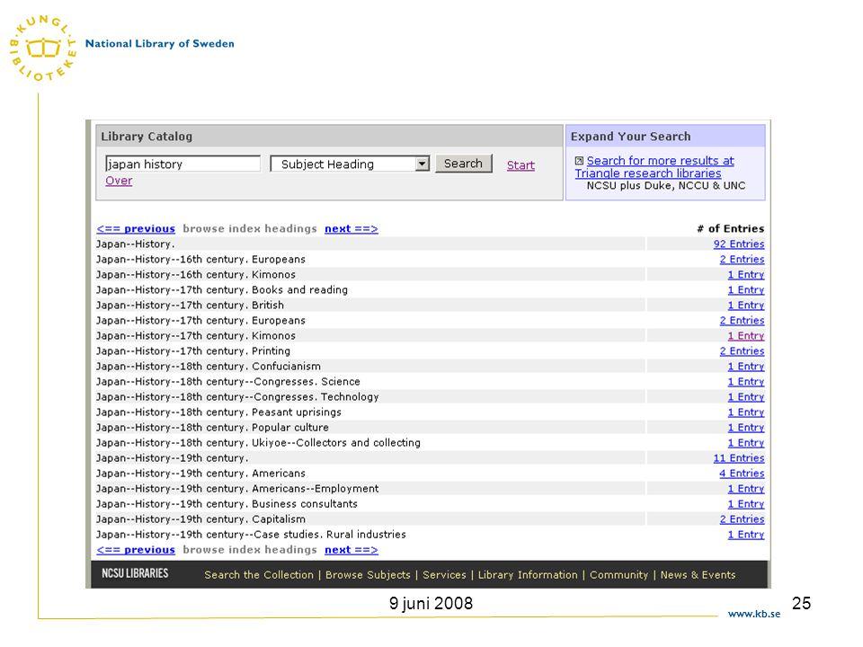 www.kb.se 9 juni 200825