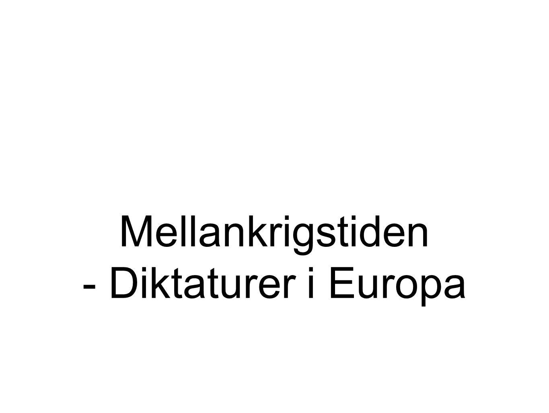 Under 20- och 30- talen rådde stor politisk oro i Europa.