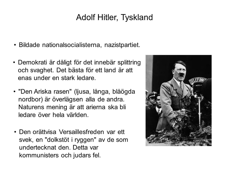 •Nazisterna vann valet 1933 och Hitler blev rikskansler.
