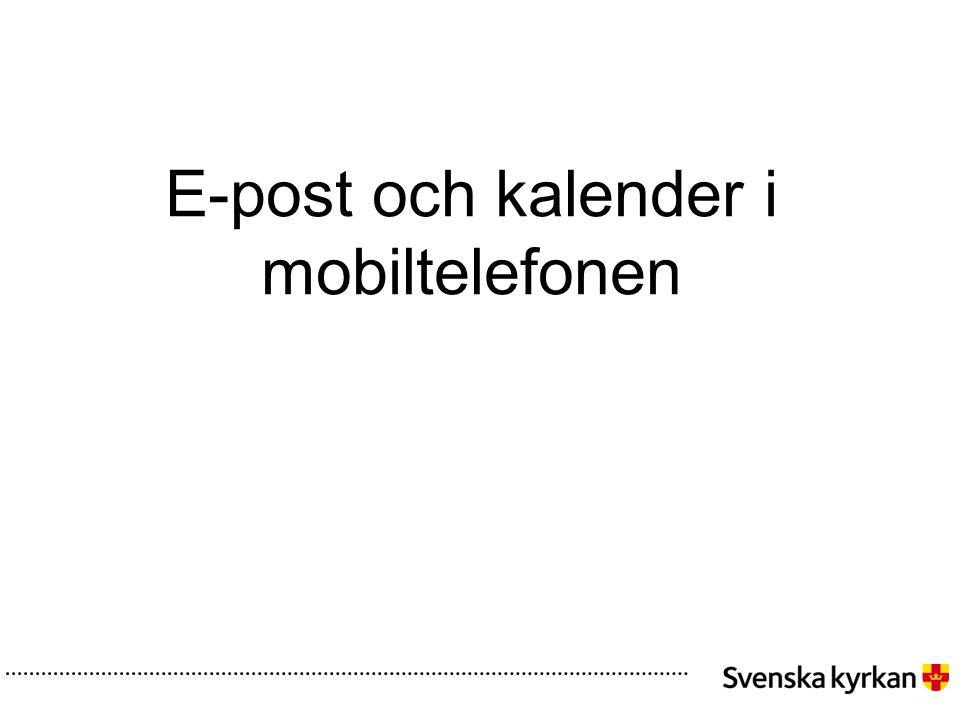 E-post och kalender i mobiltelefonen