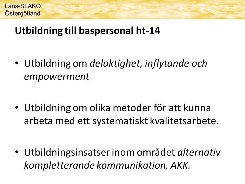 Utbildning chefer 1 heldag ht-14 • Utbildning om en evidensbaserad metod för att stärka brukarens delaktighet och inflytande – Delaktighetsmodellen • Ann-Christine Gullacksen
