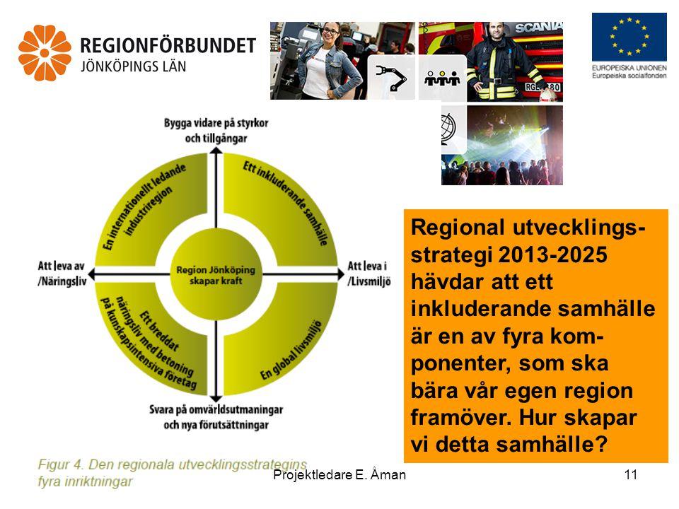 Regional utvecklings- strategi 2013-2025 hävdar att ett inkluderande samhälle är en av fyra kom- ponenter, som ska bära vår egen region framöver.