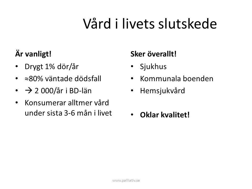 Antal vårdplatser sista 2 v www.palliativ.se