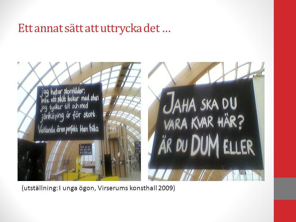 Ett annat sätt att uttrycka det … (utställning: I unga ögon, Virserums konsthall 2009)