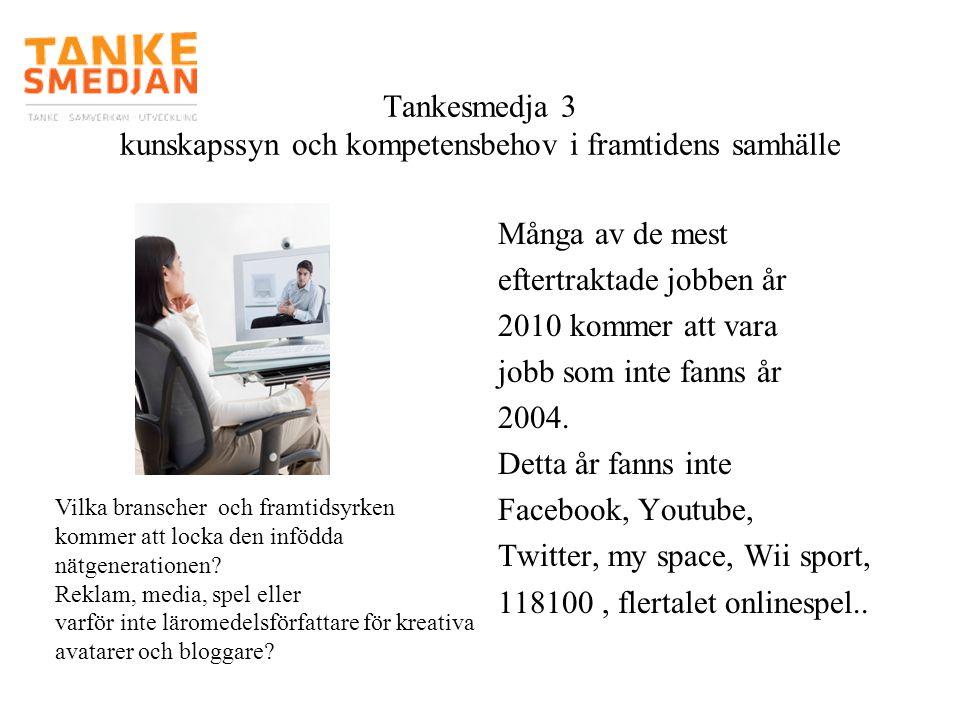Många av de mest eftertraktade jobben år 2010 kommer att vara jobb som inte fanns år 2004. Detta år fanns inte Facebook, Youtube, Twitter, my space, W