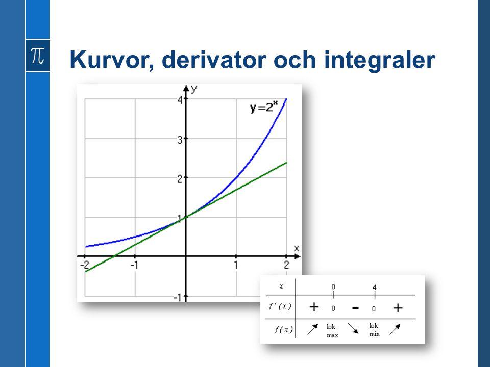 Kurvor, derivator och integraler