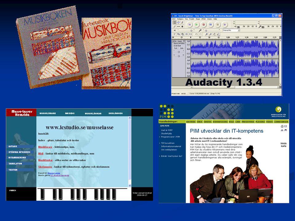 Audacity 1.3.4 www.lcstudio.se/musselasse