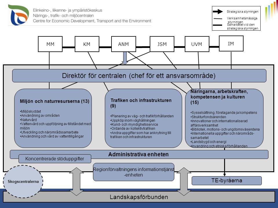 1.1.2011 11 Strategiska styrningen Verksamhetsmässiga styrningen Samarbetet vid den strategiska styrningen JSMKMUVMMMANM IM Miljön och naturresurserna