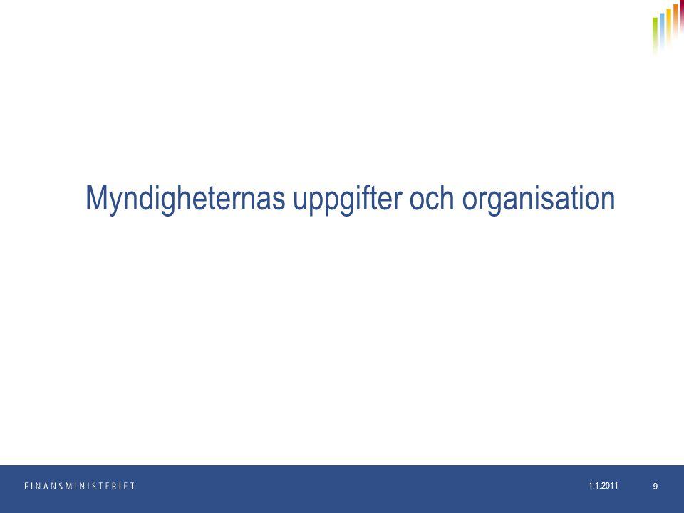 1.1.2011 9 Myndigheternas uppgifter och organisation