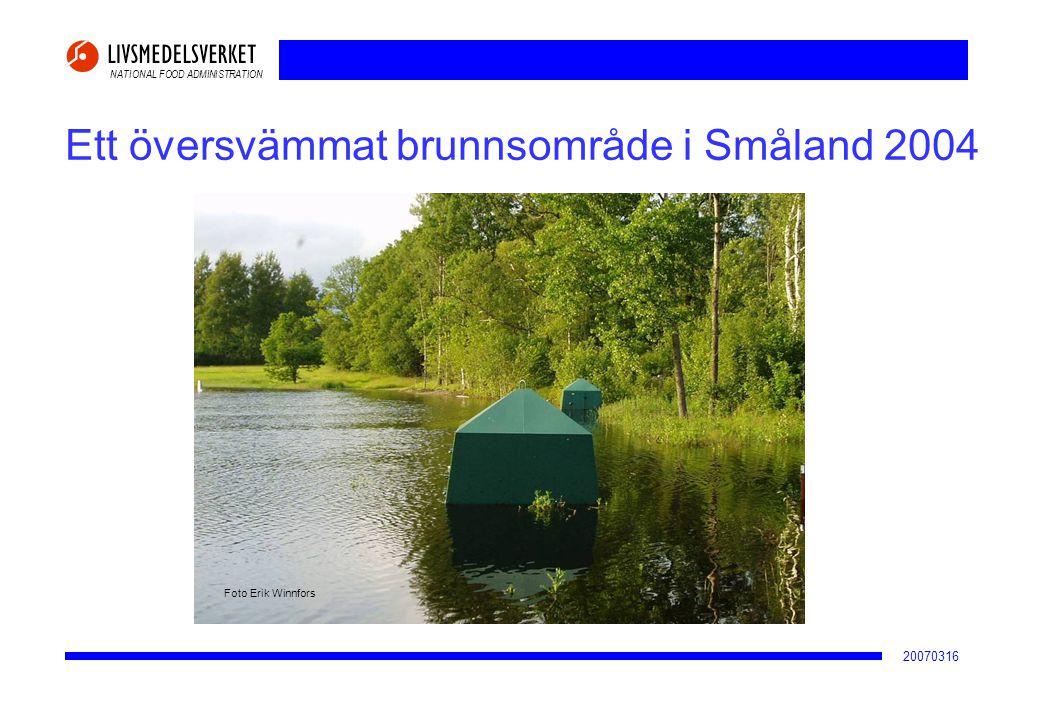 NATIONAL FOOD ADMINISTRATION 20070316 Ett översvämmat brunnsområde i Småland 2004 Foto Erik Winnfors